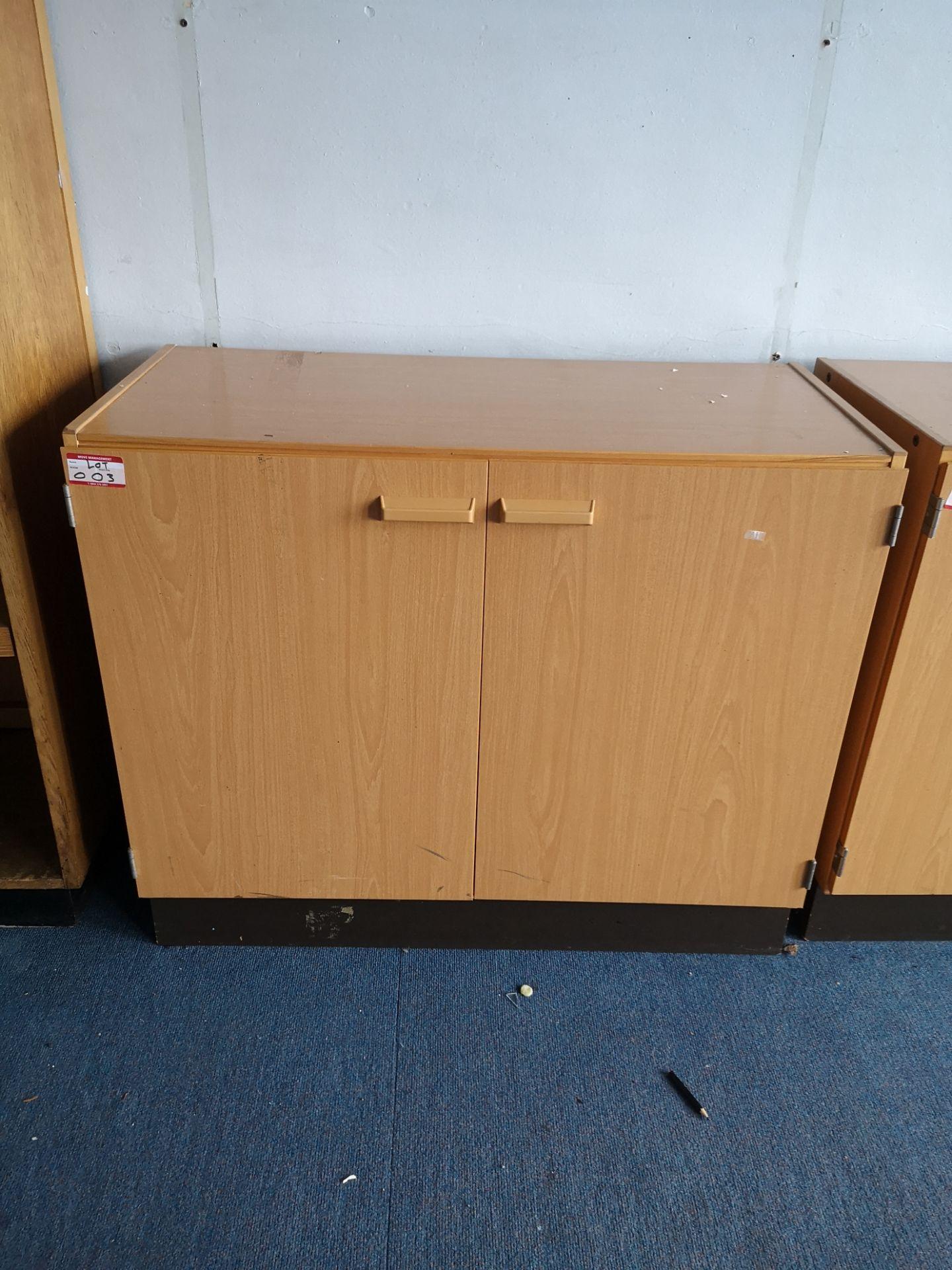 Lot 3 - Vintage 2-door low cabinet