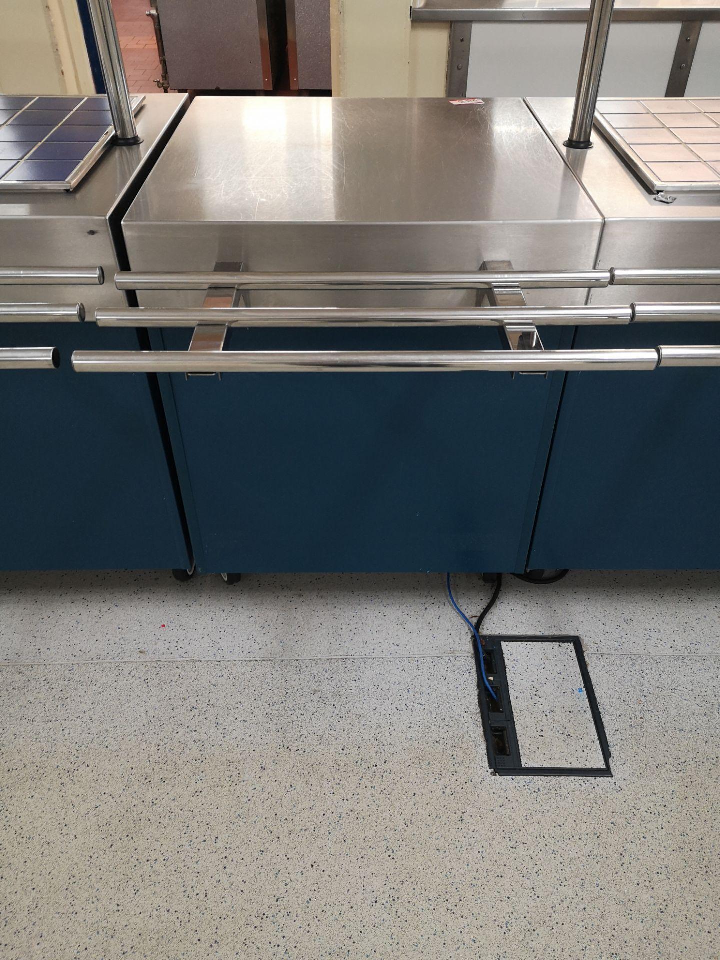 Lot 243 - Moffat counter with plug socket 70x70cm