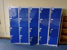 bank of 5 4 door lockers