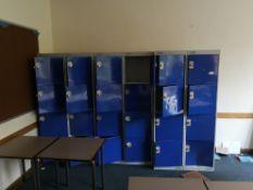 bank of 6 4 door lockers