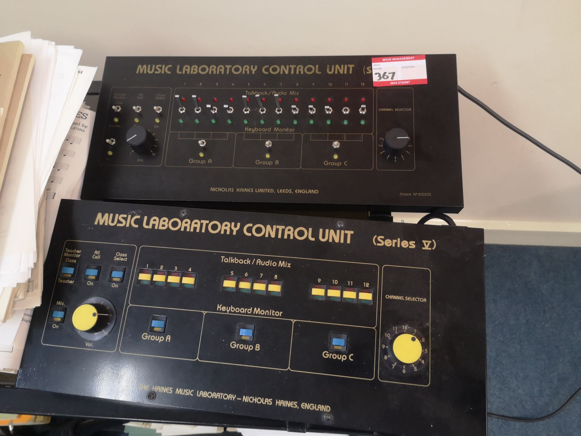 Lot 367 - Vintage music laboratory control units