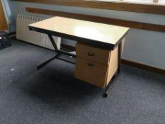Z frame school teachers desk broken runner bottom drawer