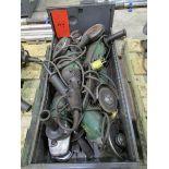 Metal Cabinet w/ 6 Hitachi Angle Grinders