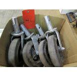 4 Unused Scaffold Wheels