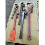 5 Pipe Wrenches from 18'' to 36''