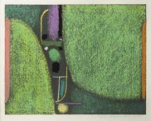 "Ackermann, MaxBerlin, 1887 - Unterlengenhardt, 197534,2x44,4cm,R.""Frühling"", 1972. Farb"