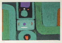 Ackermann, MaxBerlin, 1887 - Unterlengenhardt, 197532,6x50,2cm,R.Ohne Titel, 1973. Farb