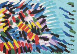 "Appel, KarelAmsterdam, 1921 - Zürich, 200655 x 75 cm,R.""Splitting head"". Farblithografi"
