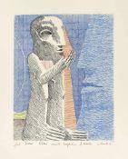 Antes, HorstHeppenheim, geboren 193624,5x19,5cm,o.R.Ohne Titel. Farbradierung auf Bütte