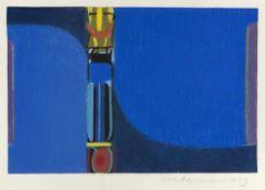 """Ackermann, MaxBerlin, 1887 - Unterlengenhardt, 197532 x 48,4 cm, R.""""Rhapsodie"""", 1973. F"""