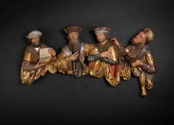 Predella mit vier männlichen Halbfiguren