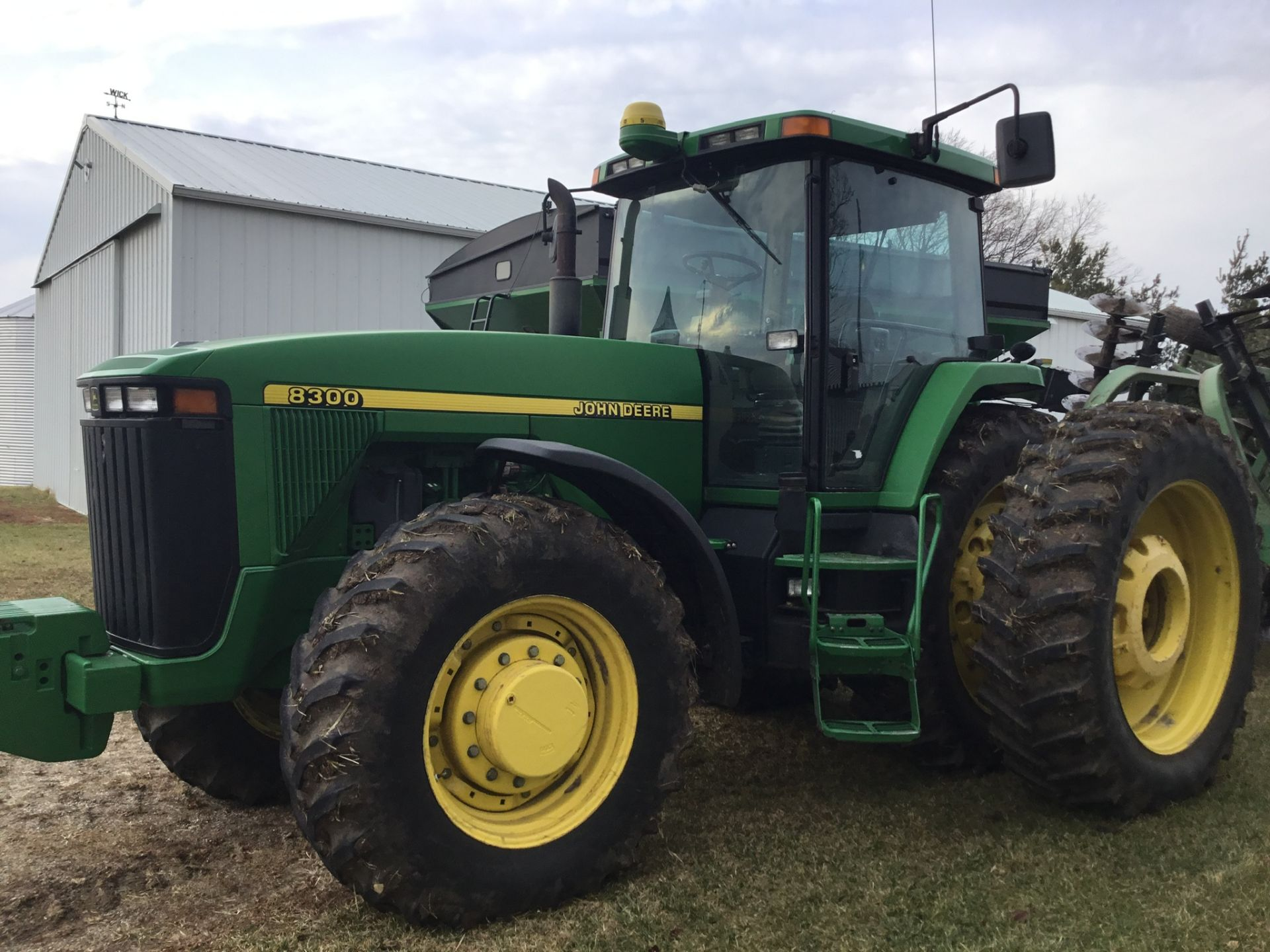 1997 John Deere 8300 MFWD, Power Shift, 3 Hydraulic Remotes, 3 Pt., Quick Hitch, PTO, Green Star - Image 2 of 25