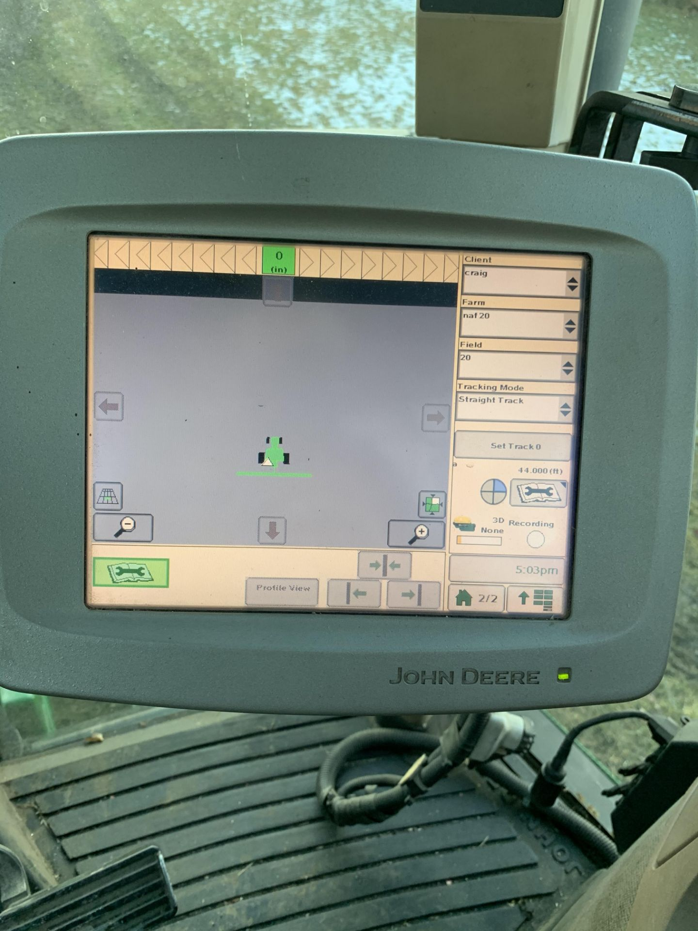 John Deere 2600 Monitor Console, Serial #PCGU26H211463. Auto Tract Activation - Image 4 of 6
