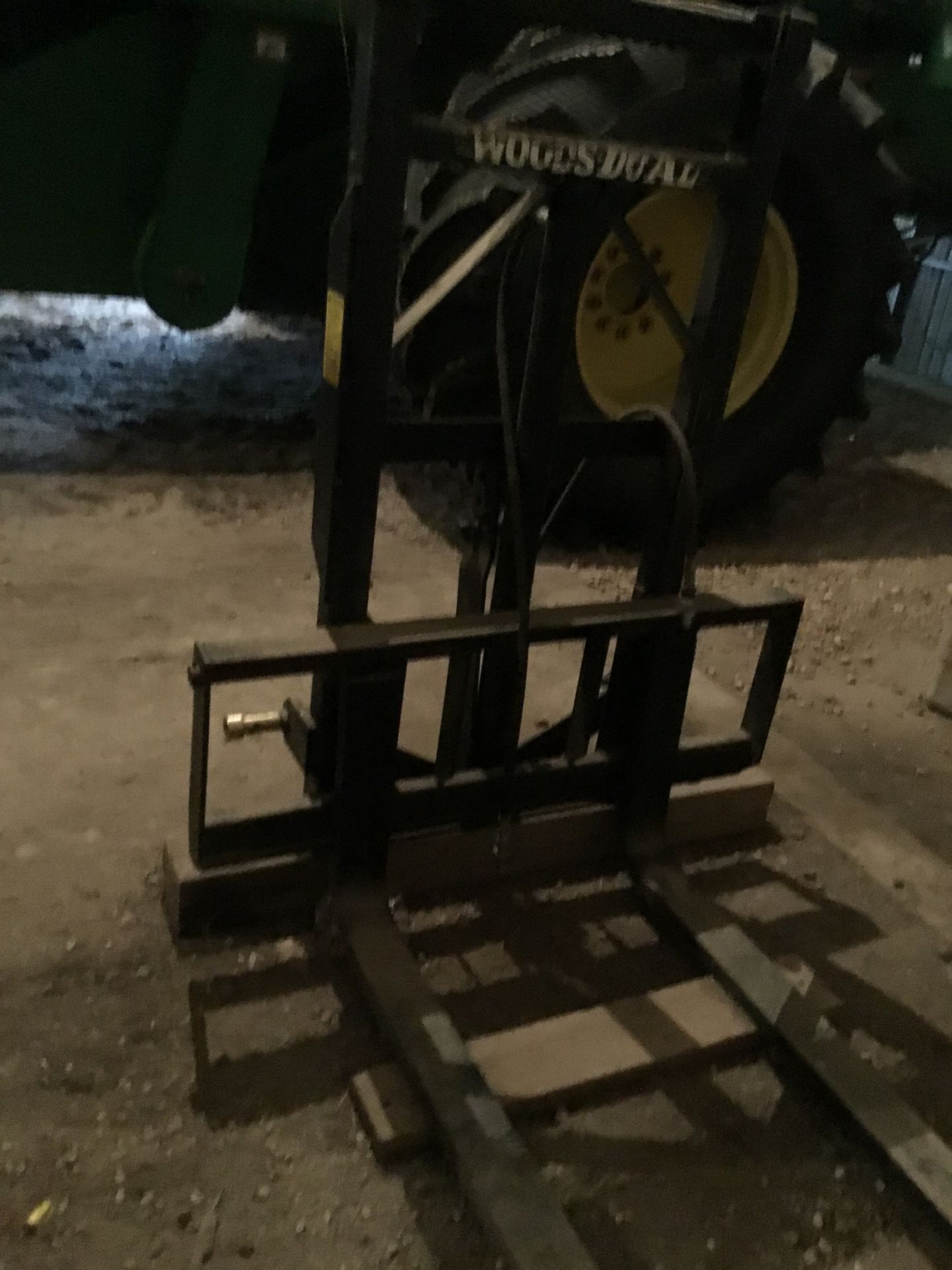 Woods Model 40 3Pt. Hitch Fork Lift 2 Stage, Serial #4560 - Image 4 of 4