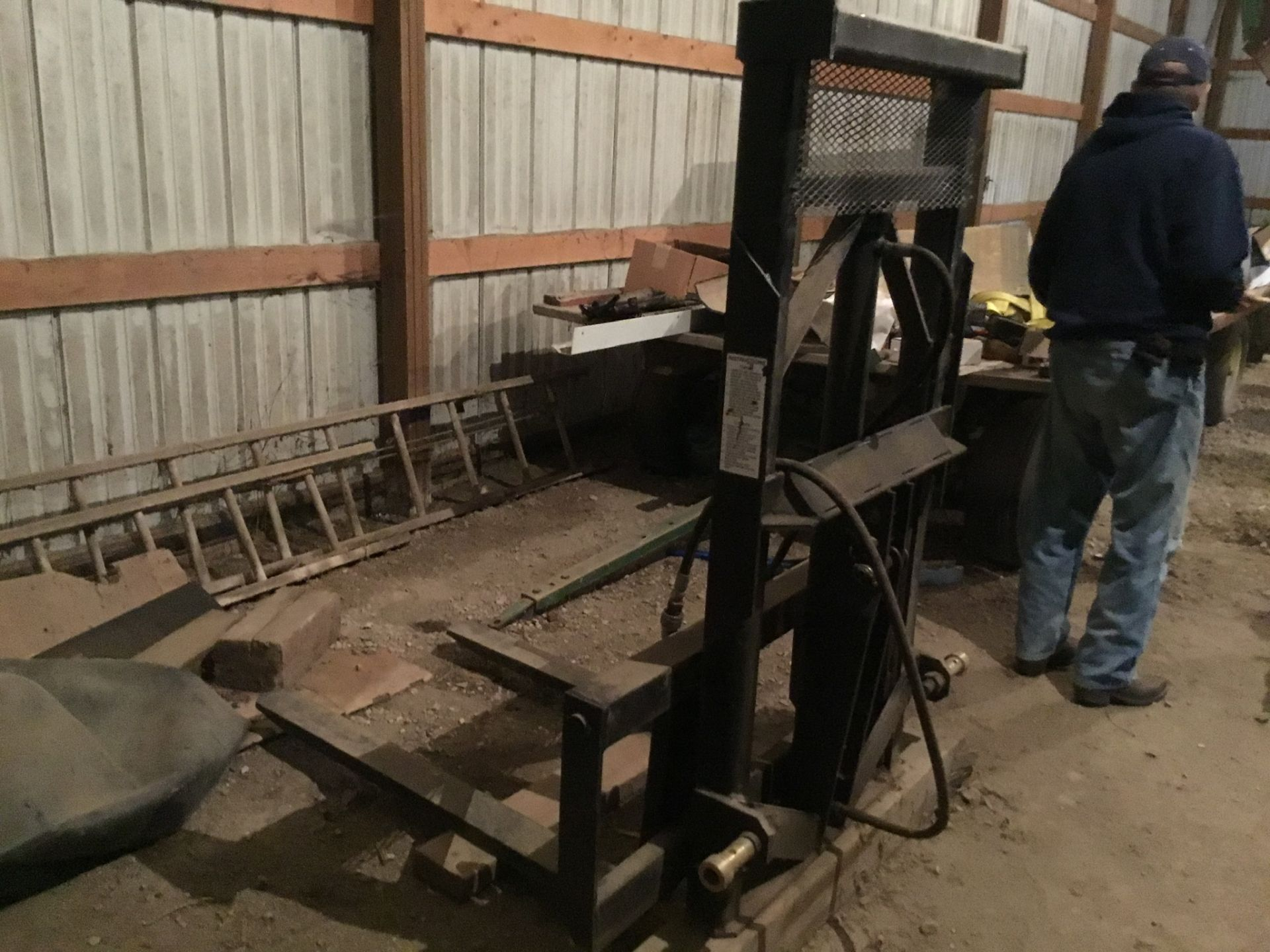 Woods Model 40 3Pt. Hitch Fork Lift 2 Stage, Serial #4560 - Image 3 of 4