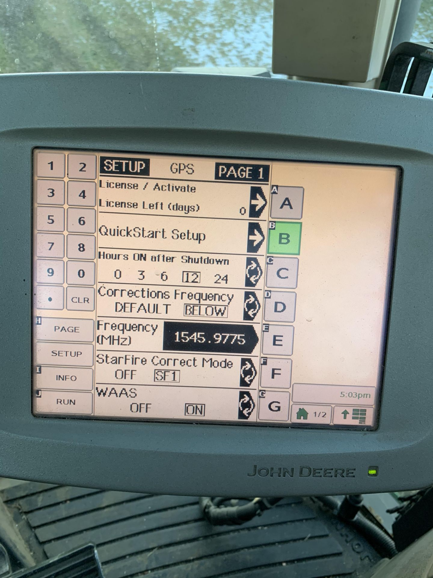John Deere 2600 Monitor Console, Serial #PCGU26H211463. Auto Tract Activation - Image 6 of 6