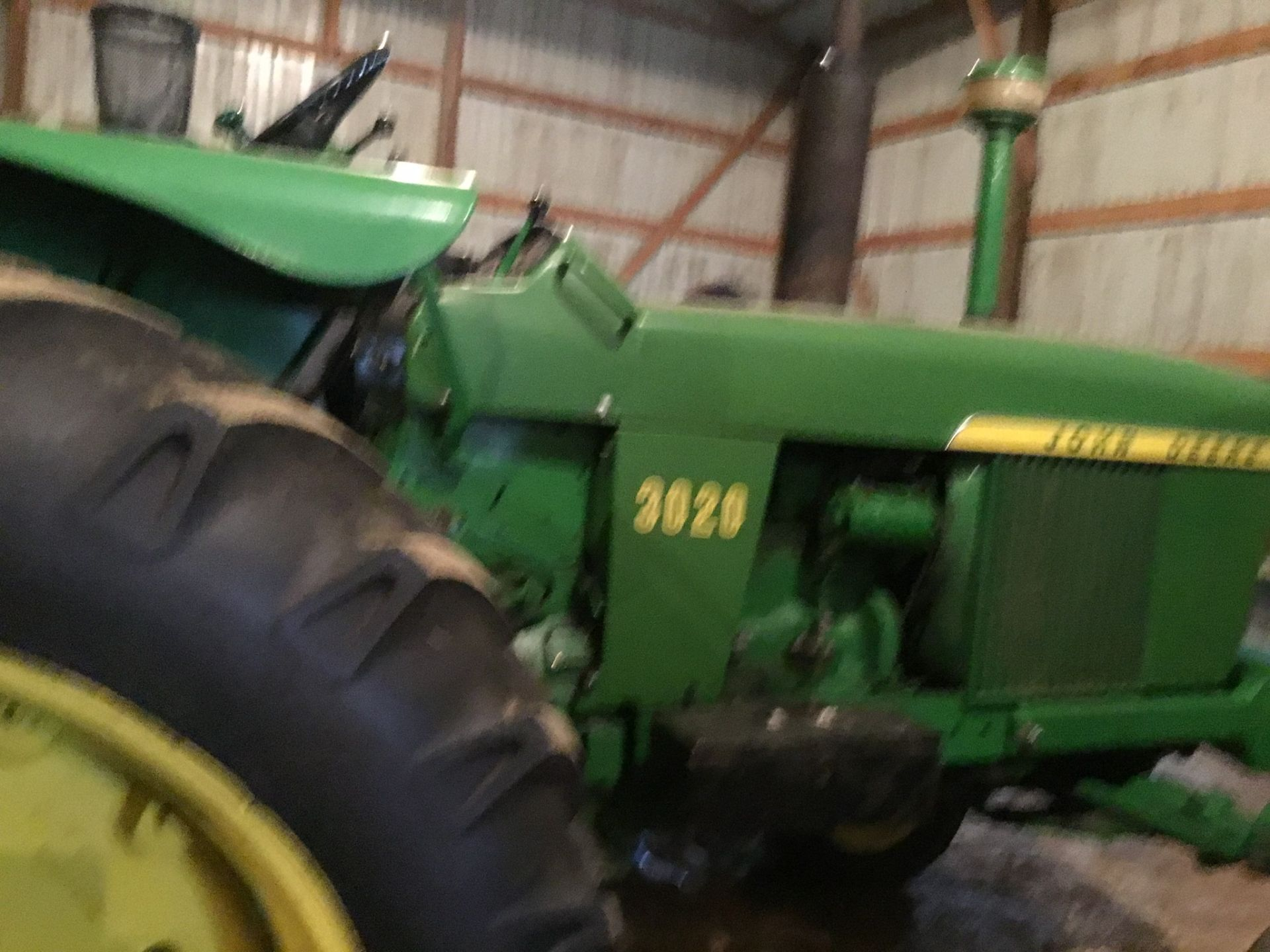 1966 John Deere 3020 Gas, JD Wide Front, Synchro Range, Roll Bar & Canopy, Dual Hydraulic Remotes, - Image 4 of 13