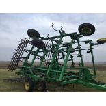 "John Deere 980 Field Cultivator, 30Ft., 5 Bar Harrow, Walking Tandems, 9"" Shovels, Serial #"