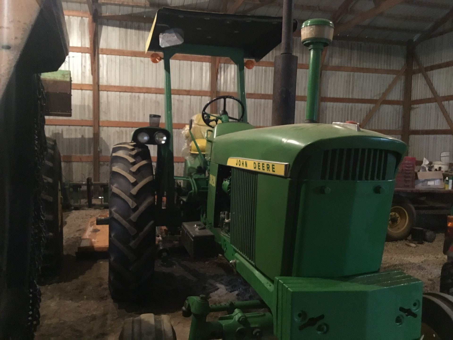 1966 John Deere 3020 Gas, JD Wide Front, Synchro Range, Roll Bar & Canopy, Dual Hydraulic Remotes, - Image 7 of 13