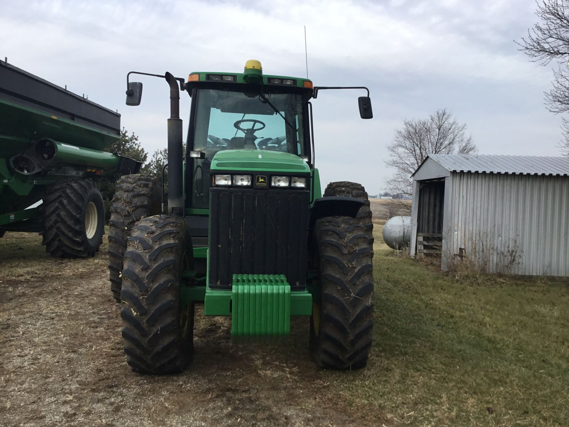 1997 John Deere 8300 MFWD, Power Shift, 3 Hydraulic Remotes, 3 Pt., Quick Hitch, PTO, Green Star - Image 3 of 25