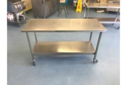 Stainless Steel Prep Table On Casters