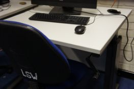 2 x computer desks each with gas lift chair (computers NOT included)