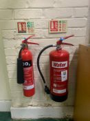 x2 Fire Extinguisher & Sign