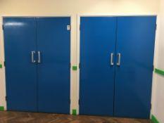 2 x solid double doors