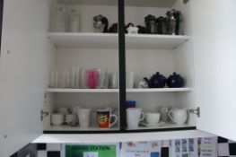 Contents of cupboards, as lotted