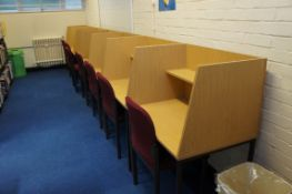 7 x single study units each with chair