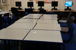 11 x exam tables (600 x 600mm), 13 x chairs