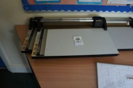 Miscellaneous lot comprising, 2 x Rotatrim paper cutters, Swordfish 330LR A3 laminator, Fellowes L8-