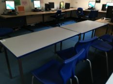 6 x canteen tables + 8 x chairs