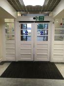 Double part glazed entrance doors