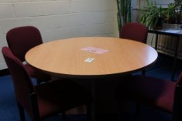 Circular meeting table with 4 x chairs