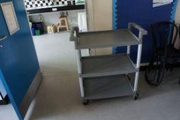 Three tier service trolley