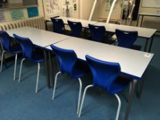 6 x canteen tables + 12 x chairs