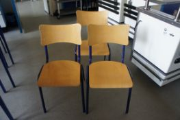 3 x steel frame chairs