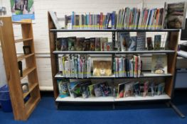Miscellaneous lot comprising, display rack and bookcase (contents NOT included)