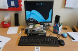 Acer Veriton PC with Acer a173 monitor