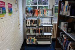 3 x steel frame book shelfs, 925 x 250 x 150mm