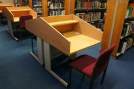 Double sided study unit with 2 x chairs