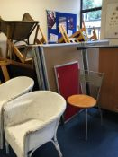 The contents of the room ST3comprising, wooden chairs, filing cabinets, cupboards, tables, office ch