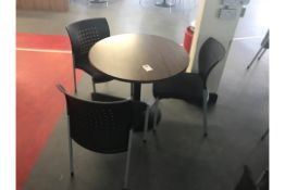 Cafe Table With 3 Padded Chairs