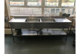 Catering Stainless Steel Double Sink