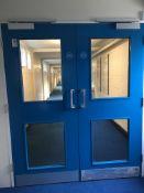 Double part glazed door