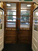 Push bar double part glazed entrance doors