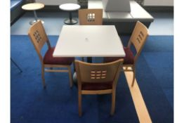 Cafe Table With 4 Chairs