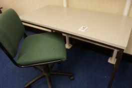 Work desk, gas lift chair