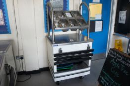 Victor hot food cupboard with cutlery rack over